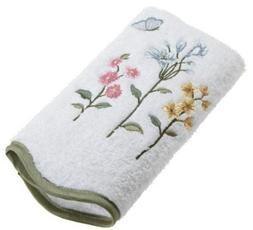 Avanti Linens Premier Country Floral Hand Towel, White 22072