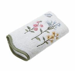Avanti Linens Premier Country Floral Hand Towel, White