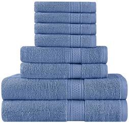 Premium 8 Piece Towel Set ; 2 Bath Towels, 2 Hand Towels and
