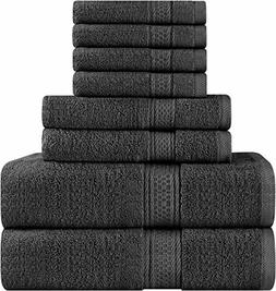 Utopia Towels Premium 8 Piece Towel Set  2 Bath Towels, 2 Ha