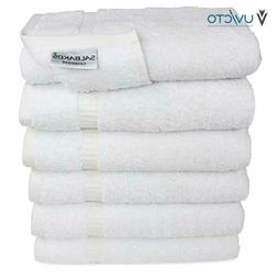SALBAKOS Premium Organic Turkish Cotton Hand Towels 6-Pack,