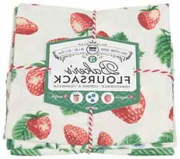 Now Designs Printed Baker's Floursack Kitchen Towels, Set of
