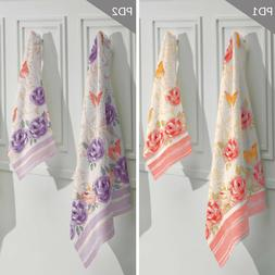 Printed Bathroom Towel Set with floral pattern. 1 Bath Towel