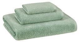 AmazonBasics Quick-Dry Towels - 100% Cotton, 3-Piece Set, Se