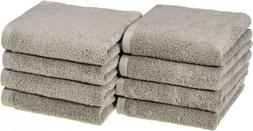 AmazonBasics Quick-Dry Hand Towels, 100% Cotton, Set of 8, P
