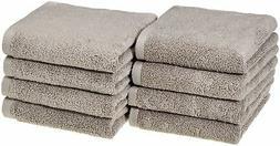 AmazonBasics Quick-Dry Hand Towels - 100% Cotton, 8-Pack, Pl