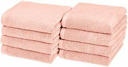 AmazonBasics Quick-Dry Hand Towels - 100% Cotton, 8-Pack, Pe