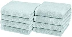AmazonBasics Quick-Dry Hand Towels - 100% Cotton, 8-Pack, Ic