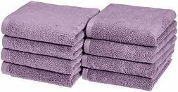 AmazonBasics Quick-Dry Hand Towels - 100% Cotton, 8-Pack, La