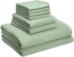 AmazonBasics Quick-Dry Towels - 100% Cotton, 8-Piece Set, Se