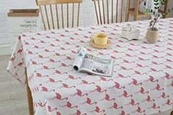 YIPOINT Rectangle Tablecloth YIDIAN Flamingo Pattern Tropic