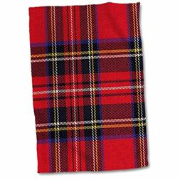 "3dRose Red n Blue Plaid Towel, 15"" x 22"""