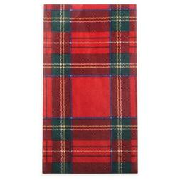 Red Plaid Caspari Royal 15-Count Paper Guest Buffet Napkins