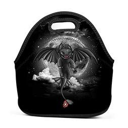 BLKDA25B Resistant Portable Lunch Bag Night Fury Dragon Carr