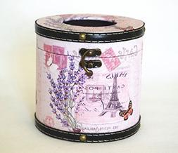 Retro Vintage Paris Eiffel Tower Tissue Box Cover Holder - R