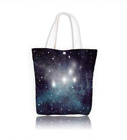 Reusable Cotton Canvas Zipper bag Stars of a planet and gala