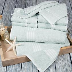 Lavish Home Rio 8 Piece 100% Cotton Towel Set - Seafoam