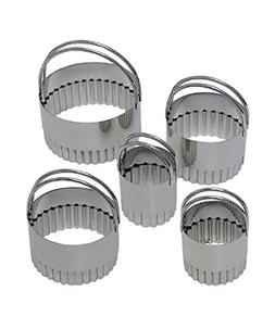 R&M International 1756 Stainless Steel Round Fluted Biscuit