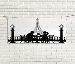 Anniutwo Romantic,Hand Towel,Couple Having a Romantic Dinner