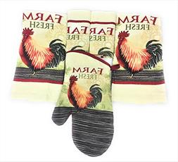 Home Collections Rooster Farmhouse Rustic Kitchen Towel, Dis