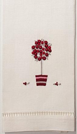 Henry Handwork Rose Tree Red Towel