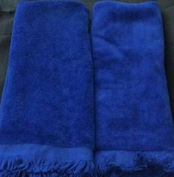 """ROYAL BLUE HAND TOWELS BY TERRY TOWN - 17""""H X 11 1/2""""W"""