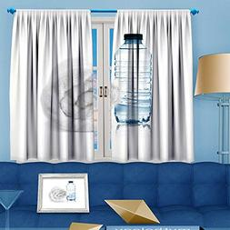 aolankaili Rustic Home Decor Curtains,bottle of water and to