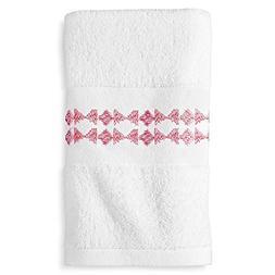 New Sabrina Soto Olivia Geo Towels , White/Pink)