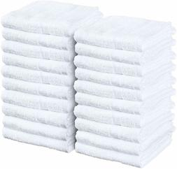 Salon, Gym 24 Pack 16 x 27 Inches, White Hand Towels 100% Co
