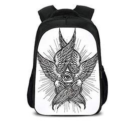 "iPrint 15.7"" School Backpack,Eye,All Seeing Eye of Providenc"