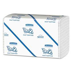 Scott 01980 SCOTTFOLD Paper Towels, 9 2/5 x 12 2/5, White, 1