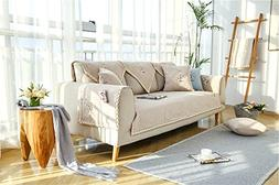 19V78 Sectional Sofa Throw Covers Furniture Protector, Multi
