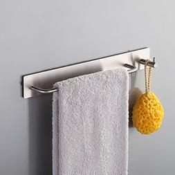 Kes Self Adhesive SUS 304 Stainless Steel Towel Bar with Hoo