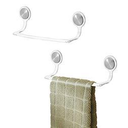 mDesign Self-Adhesive Towel Bar Holder for Bathroom or Kitch