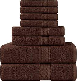 Premium 8 Piece Towel Set ; 2 Bath Towels, 2 Hand Towels and