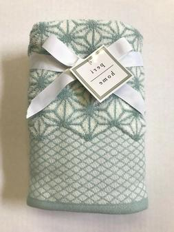 Set of 2 Peri Home 100% Cotton Hand Towels - Blue & White Ge
