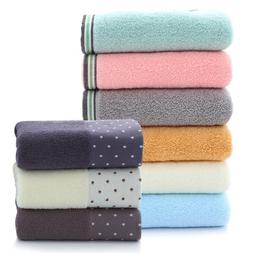 Set of 2 Bathroom Cotton Bath Towel Face Hand Towel Washclot