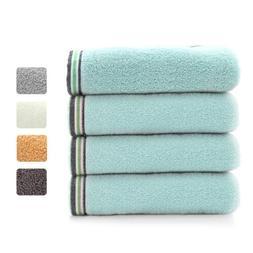 Set of 2 Cotton Hand Towels Bath Towels Washcloth Face Sheet