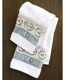 Set of 2 Hand Towels Cotton Boll Country Farmhouse Bathroom