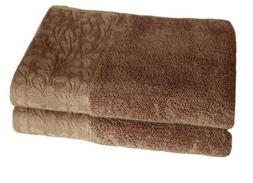 Set of 2 Luxury Fade Resistant Hand Towels, 100%Cotton, 13 x