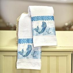 Set of 2 Mermaid Hand Towels -