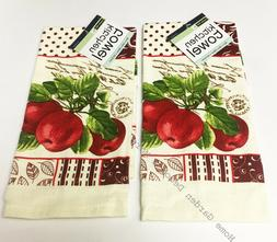2 PC SET Printed Kitchen Dish Towels Rooster Chicken Sunflow