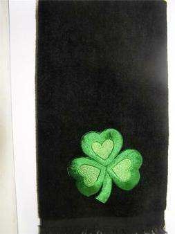 Shamrock clover bath hand  towel FREE SHIPPING St. Patrick's