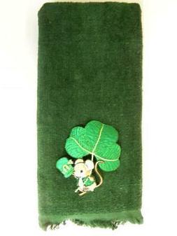 Shamrock mouse bath hand  towel FREE SHIPPING St. Patrick's