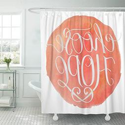 """Emvency Shower Curtain 66""""x72"""" Polyester Fabric Believe Hand"""