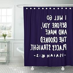 Emvency Shower Curtain Waterproof Decora