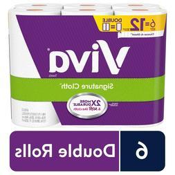 VIVA Signature Cloth Choose-A-Sheet Kitchen Paper Towels 6 D