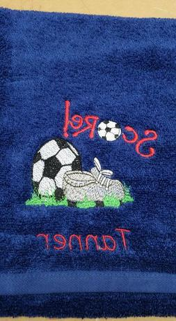 Soccer Ball Towel Set, Personalized Soccer Towel, SportsTowe