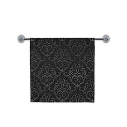 Soft And Comfortable Black Grey Damasks Bath Towel 30X56 Inc