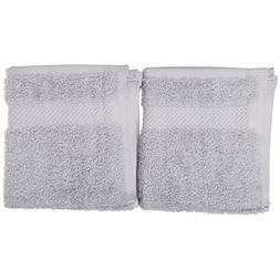 PH 2 Piece Soft Grey Border 30 X 16 Inches Hand Towel Set, L
